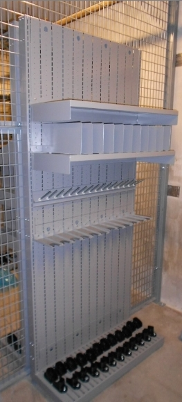 Weapon Shelving with pistol pegs, shelves, dividers and more