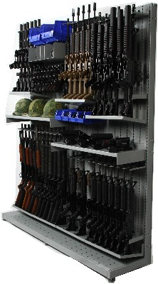 Weapon Shelving with Rifle Bases