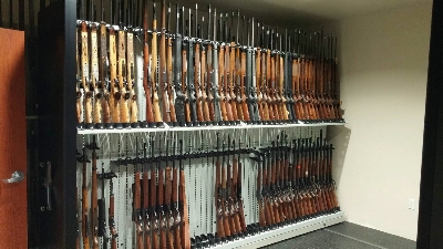Forensic Firearm Laboratory Weapon Storage