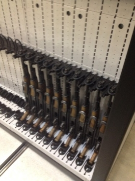 Mobile Shelving Weapon Rack Rifle Storage