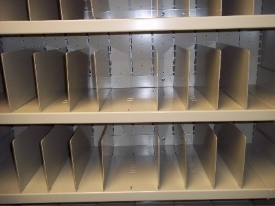 NVG Storage Cabinet with adjustable dividers for cubby holes