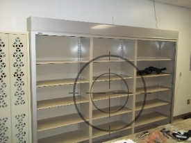 Secure Shelving with Weapon Racks