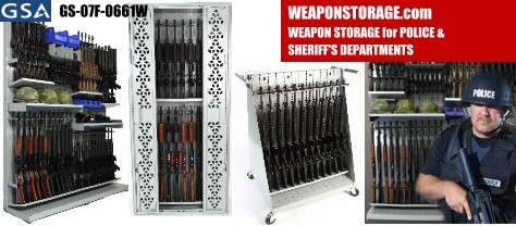 Combat Weapon Storage Systems for police, sheriff departments and law enforcement agencies